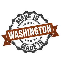 made in washington round seal vector image