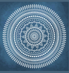 Mandala on grunge watercolor background vector