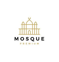 mosque logo icon vector image
