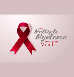Multiple myeloma awareness calligraphy poster vector