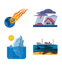 natural and disaster sign vector image
