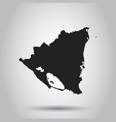 nicaragua map black icon on white background vector image