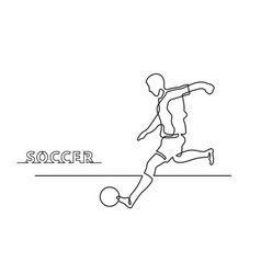 one line soccer vector image