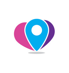Pin location travel logo vector