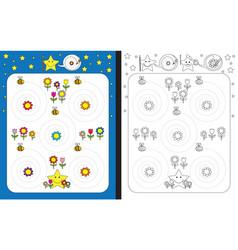 Preschool worksheet vector