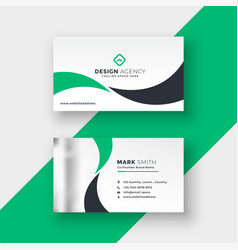 professional elegant green business card design vector image