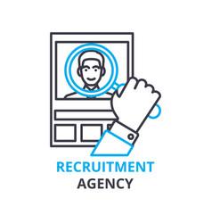 Recruitment agency concept outline icon linear vector