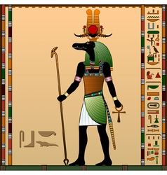 Religion of ancient egypt vector