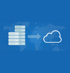 Server migration to cloud infrastructure move vector