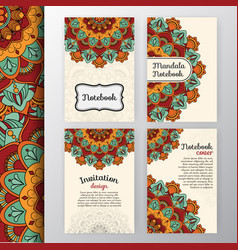 Set of vintage invitation and background design vector