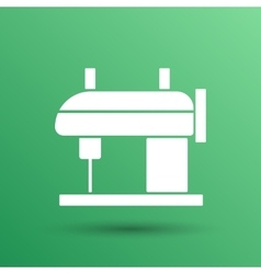 Sewing machine icon raft embroidery tool vector