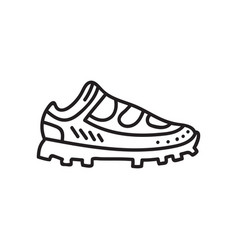 spike running shoe vector image