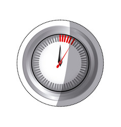 Sticker silver screen chronometer timer counter vector