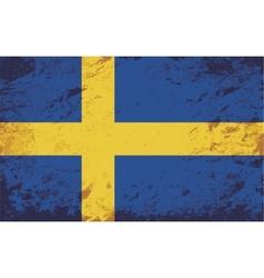 Swedish flag Grunge background vector