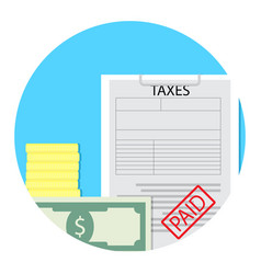 tax paid icon vector image