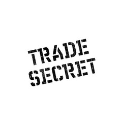 Trade secret rubber stamp vector