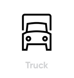 truck or lorry delivery icon editable line vector image
