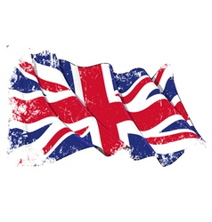 UK Flag Grunge vector image