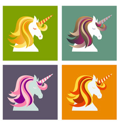 unicorn cute - card and shirt design cartoon vector image