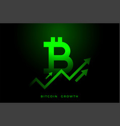 Upward growth graph bitcoin vector