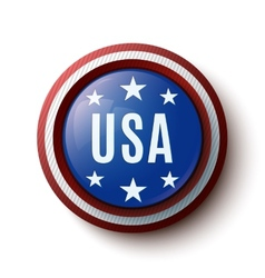 USA round icon vector image