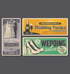 wedding ceremony and marriage party organization vector image