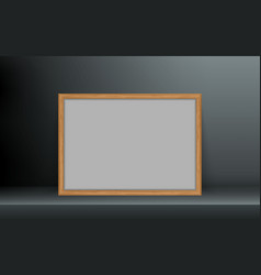 Wooden photo frame vector