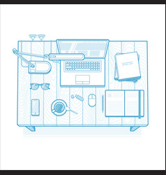 Workplace lined minimalist vector