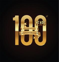 Anniversary retro vintage badge 100 vector