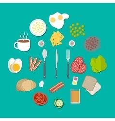 Breakfast components set vector image