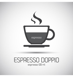 Cup of espresso doppio simple icon vector image
