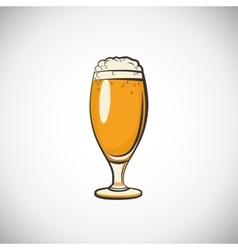 Cups of beer vector image
