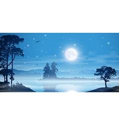 Misty River Landscape vector image vector image