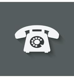 retro phone symbol vector image vector image