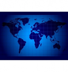 world map blue vector image vector image