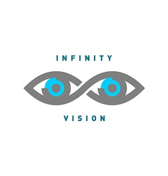 Eyes in the infinity sign shape logo vector image