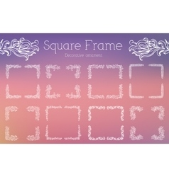 Hand drawn abstract background ornament frame vector