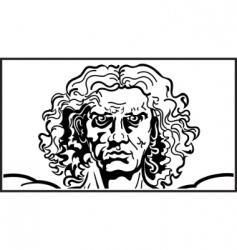 head of the vitruvian man vector image vector image