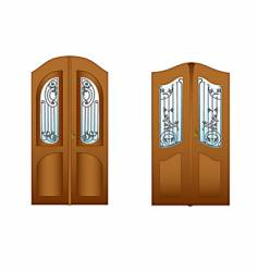 lattice doors vector image