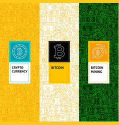 line bitcoin patterns set vector image vector image