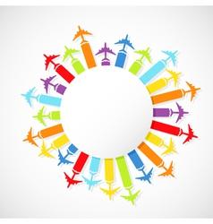 rainbow airplanes vector image vector image