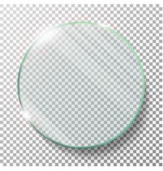transparent round circle realistic vector image