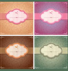 Vintage Background Frame Template vector image