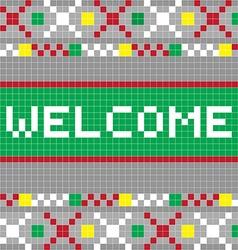 welcome pixel model vector image vector image