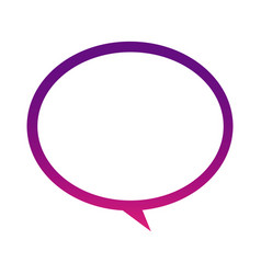 purple round chat bubble icon vector image vector image