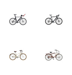 realistic old journey bike competition bicycle vector image vector image