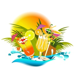 Tropical party drinks vector image vector image