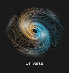universe linear concept vector image