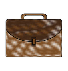 Color blurred stripe executive briefcase with vector