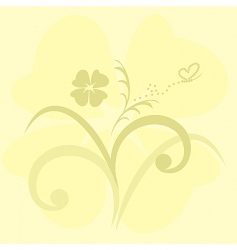 cute flowers background vector image